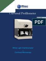 3D Profilometer Brochure Rtec2018