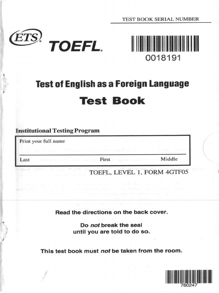 toefl itp practice test with answers pdf