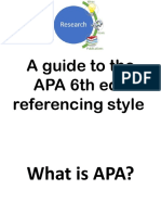 APA Referencing Style 6th Edition