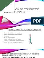 Resolución de Conflictos Interpersonales-clase