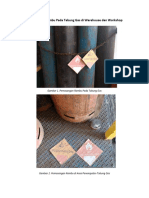 Pemasangan Rambu Pada Tabung Gas Di Warehouse Dan Workshop
