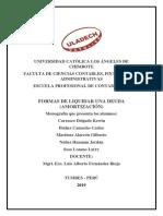 Monografia de Formas de Liquidar Una Deuda (Amortización)