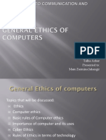 general ethics of computer (Presentation)