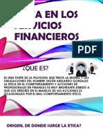 Etica en Los Servicios Financieros