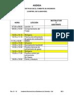 Agenda Tacticas en El Combate de Incendios , Flashover Desarrollo y Control