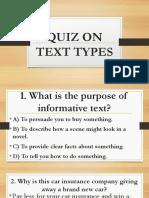 Quiz on Text Types