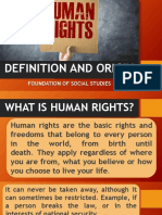 Definition and Origin of Human Rights