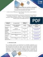 Informe Lab. Extraccion de Unaceite Esencial Mediante Destilacion Por Arrastre de Vapor
