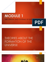 MODULE 1 Formation of the Universe