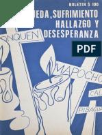 Busqueda, Sufrimiento, Hallazgo y Desedperanza-crimines de Dictadura