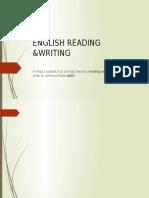 English Reading & Writing
