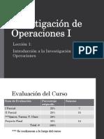 Investigación de Operaciones Leccion I v1