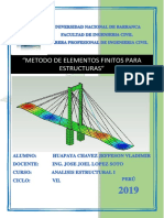 Metodo de Elementos Finitos, Huapaya Chavez Jefferson Vladimir