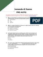 Exam Agile Domande Esame PMI ACP