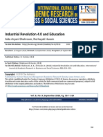 Industrial Revolution 4 0 and Education