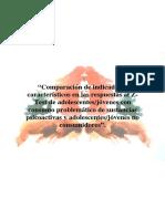 Comparación de Indicadores Característicos en Las Respuestas
