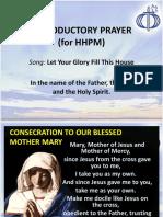 Introductory Prayer