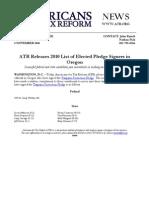ATR Releases 2010 List for Oregon