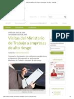 Visitas del Ministerio de Trabajo a empresas de alto riesgo - SafetYA®
