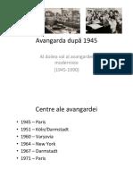 Avangarda după 1945