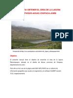 Manual Para Obtener El Área Del Rio Ñahuinpuquio