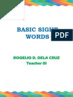 Basic Sight Words