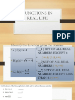 Functions in Real Life