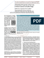 Analysis of Statistical Properties of Eye Lens Images to Detect Cataract at Earlier Stage