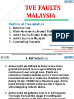 Active Faults in Malaysia