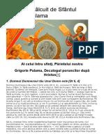 10 Porunci Sfantul Grigorie Palama