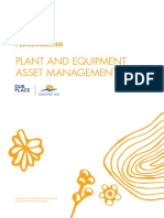 Plant Equipment Asset Plan