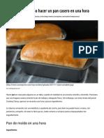 Aprenda a hacer pan casero