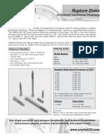 07 Rupture Disk Data Sheet