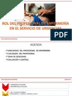 Rol Del Profesional de Enfermería en Urgencias