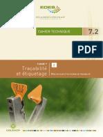 Cahier Technique TRAÇABILITE 7.2