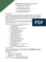 International Journal of Computer Networks & Communications (IJCNC)  (Scopus, ERA Listed)