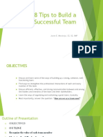 8 Tips to Build a Successful Team