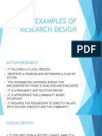 Examples of Research Design