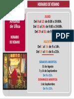 Verano de 2019 - Horario del CRAI Antonio de Ulloa