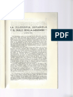 La Filosofia Española y El Duelo Revilla-Menendez Pelayo