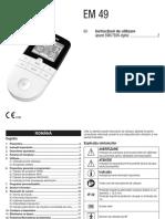 Manual Beurer Aparat Electrostimulare Ems Tens Digital Em49