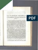 La Filosofia Española y La Polemica Fonseca-Menedez Pelayo