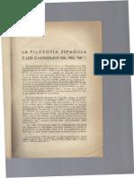 La Filosofia Española y Los Casticismo Del Pre-98-
