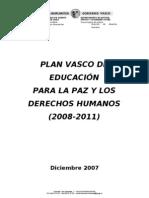 Plan Vasco de Educación para la paz y los Derechos Humanos 2008-2011