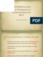 Anthropology as a Perspective in Understanding the Self