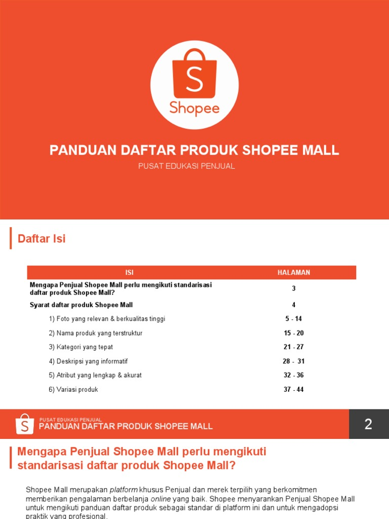 Panduan Daftar Produk Shopee Mall Pdf