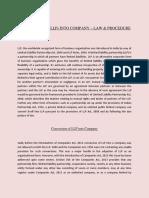 Conversion of LLP Into Company