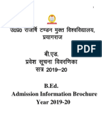 B.ed B.ed SE Information Brocher 2019 20
