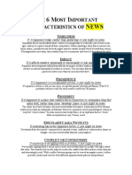 The Characteristics of News