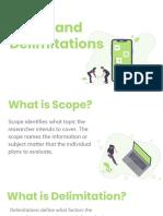 scope and delimitation